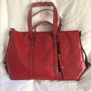 Beautiful red purse, no brand name, brand new